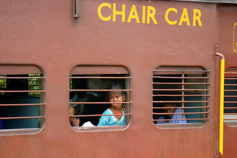 Train from Coimbatore to Madurai, Tamil Nadu, India