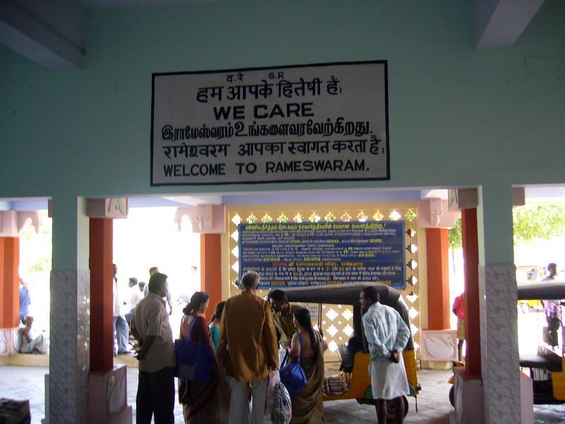 Rameswaram Station Train from Manamadurai Junction  to Rameswaram, Tamil Nadu, India