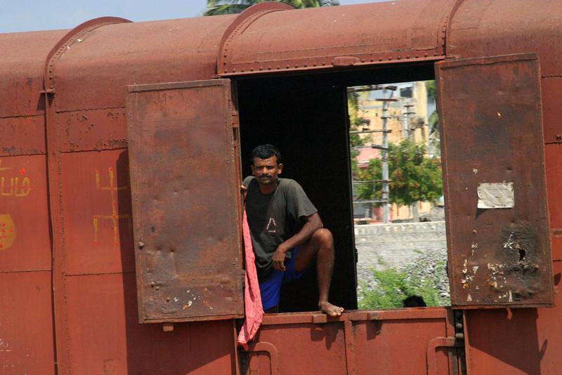 Manamadurai Junction, train station Train from Manamadurai Junction  to Rameswaram, Tamil Nadu, India