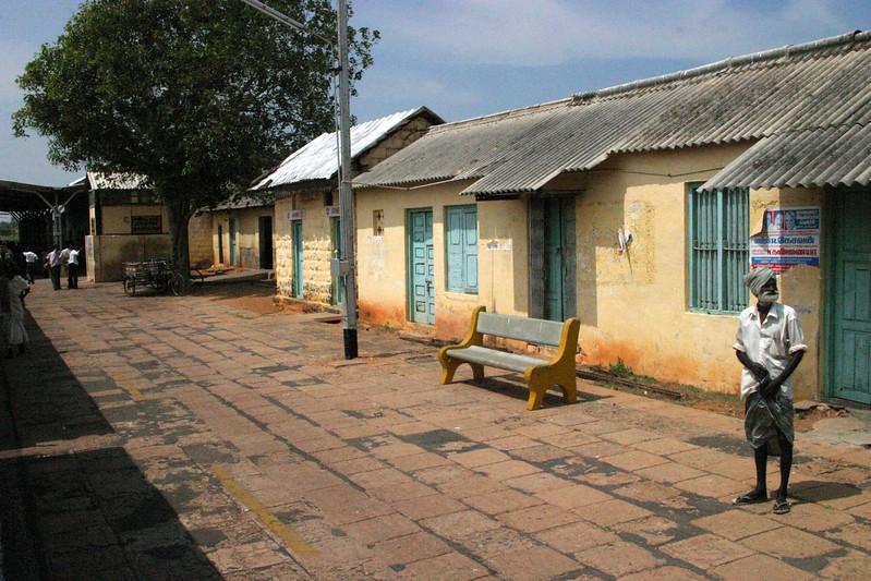 stop along the way Train from Manamadurai Junction  to Rameswaram, Tamil Nadu, India