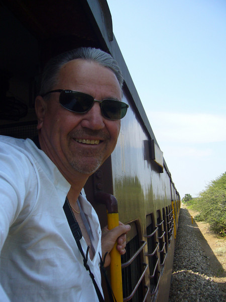 You can just lean out and look from a train. But watch out... Train from Manamadurai Junction  to Rameswaram, Tamil Nadu, India