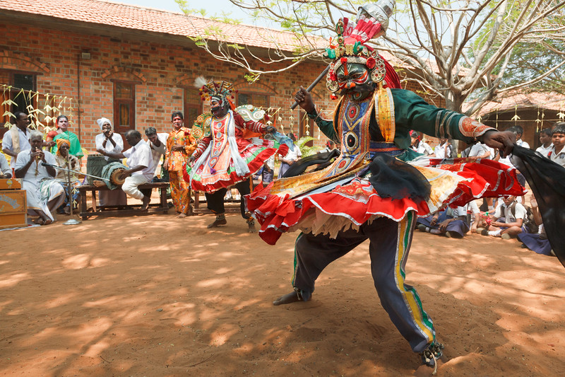 Traditional street theater Therukkoothu of Tamil Nadu state of India