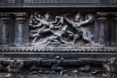 Bas relief. Brihadishwara Temple, Tanjore