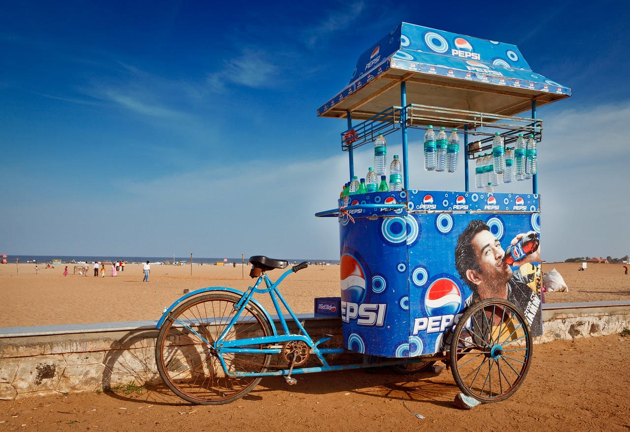 Bycicle with Pepsi cart