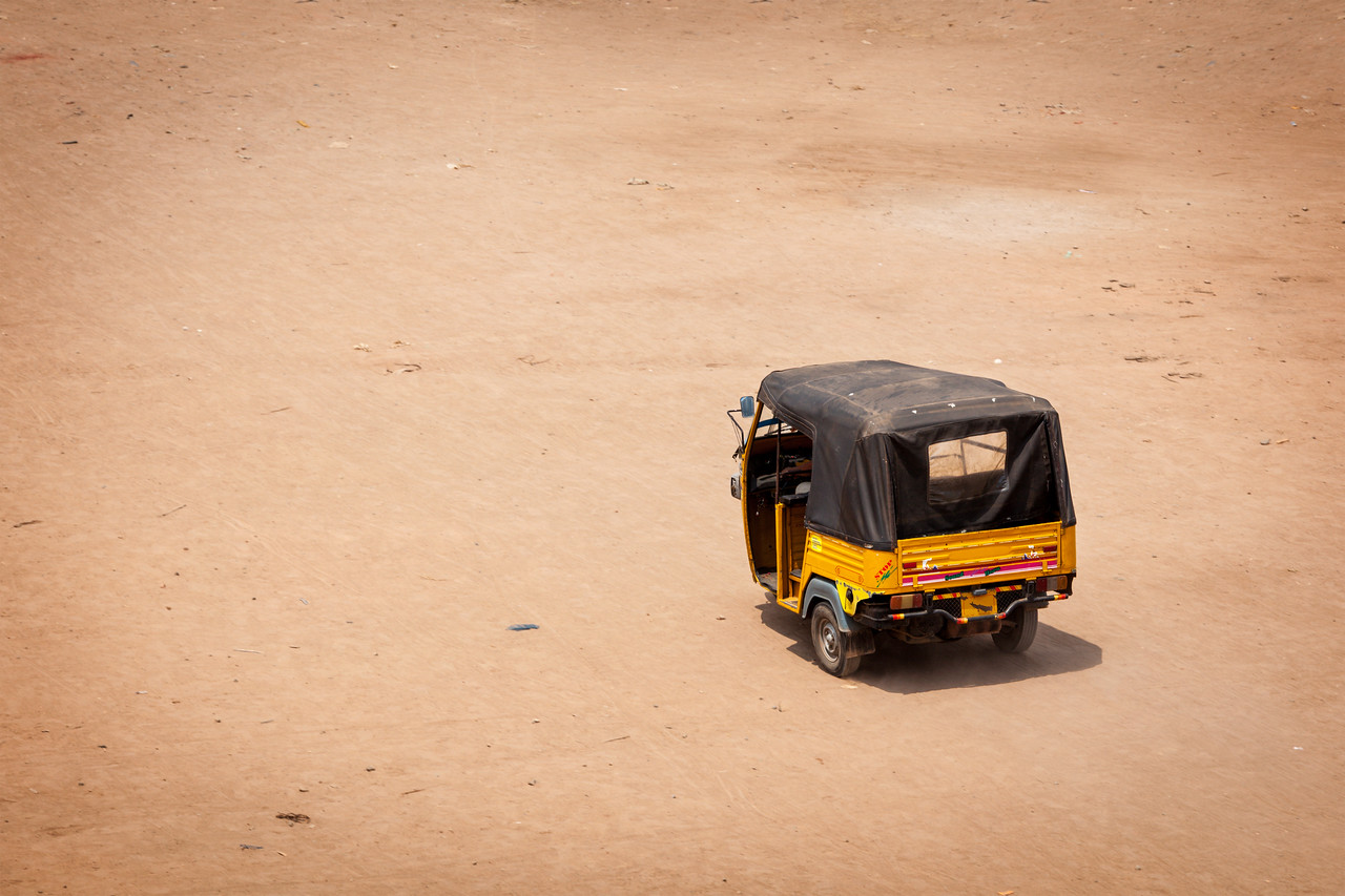 Autorickshaw in the street. India