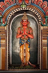 Hanuman statue in Hindu Temple. Sri Ranganathaswamy Temple. Tiruchirappalli (Trichy), Tamil Nadu, India