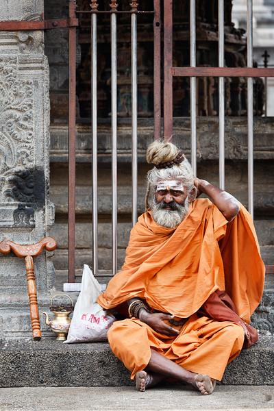 Sadhu in Hindu temple