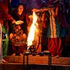 Ganga Aarti flames