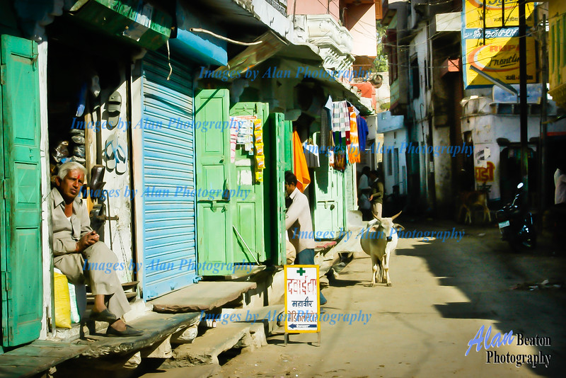 Street scene, Village of Delwara