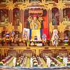 Traditional Losar (Tibetan New Year) offerings at the Satya Tibetan Monastery