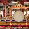 Traditional Tibetan drum, Satya Monastery, Dehradun, India
