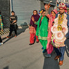 A wedding party parading through the streets, Mussoorie, Uttarakhand, India