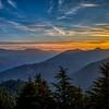 Sunrise over the Himalayas, from Mussoorie, Uttarakhand, India