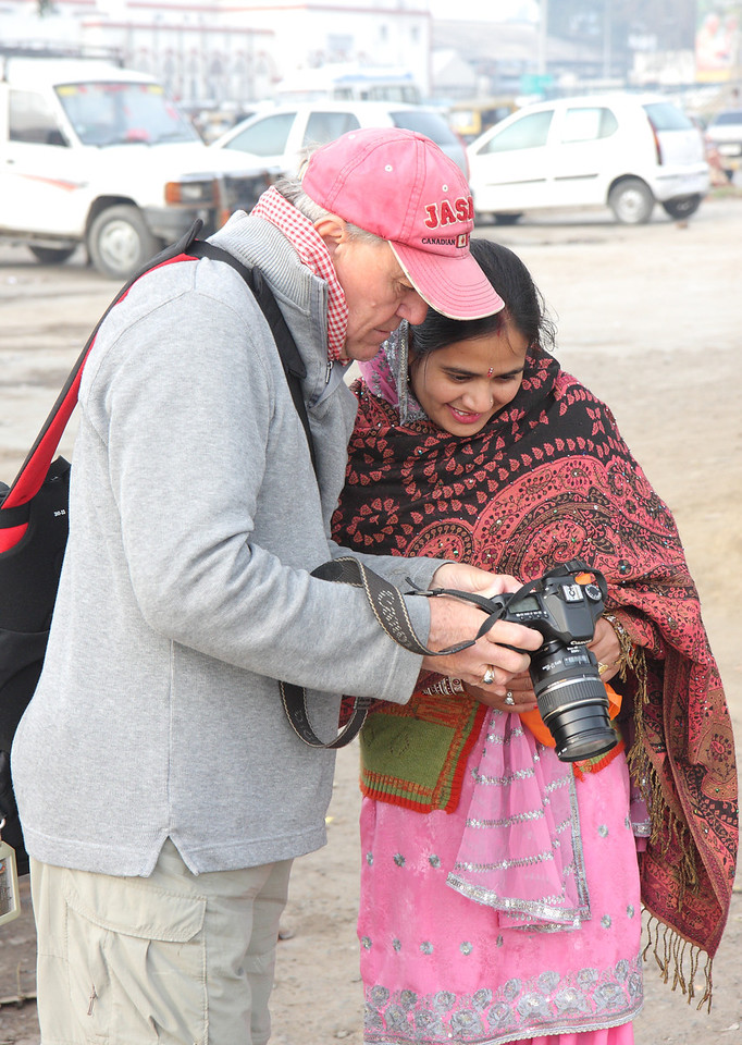 Amritsar, most people love to have their photos taken and enjoy even more seeing their photo.