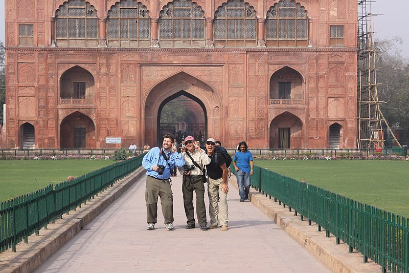 with Keith and Wm, goofing for John at the Red Fort New Delhi