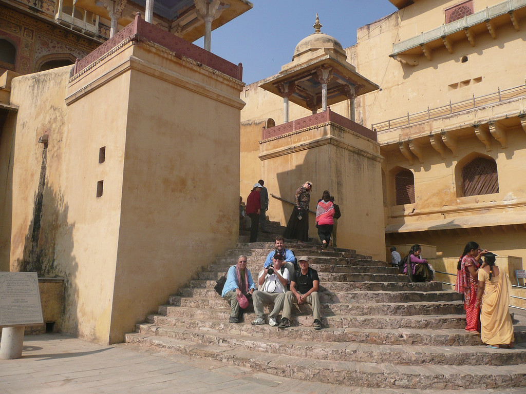 myself, John, Wm and Keith (back) Amber Fort, Jaipur