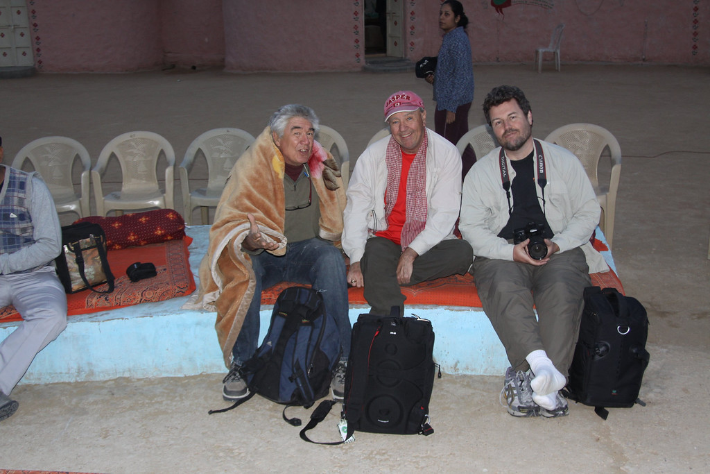 Thar Desert , nr Jaisalmer, waiting for the evening dancing show