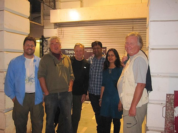 With John's friends, Prashant and his wife, Connaught Place New Delhi.