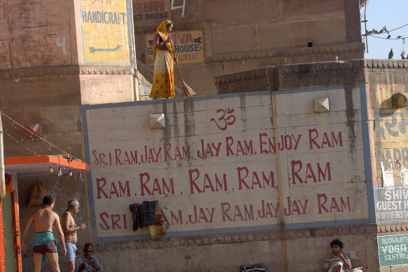 Varanasi is located on the Ganges, in Uttar Pradesh. Said to be the oldest existing city in the world.March 2011