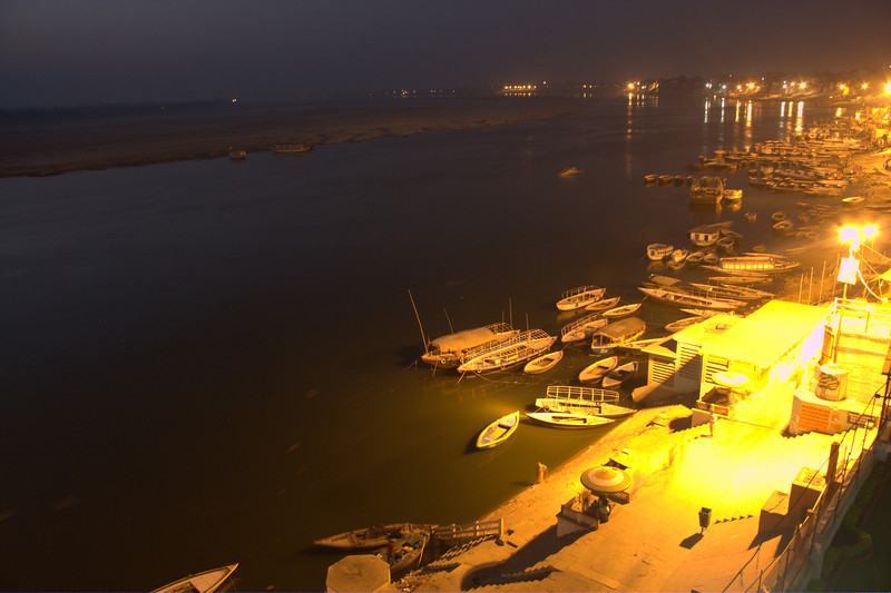 Varanasi is located on the Ganges, in Uttar Pradesh. Said to be the oldest existing city in the world.