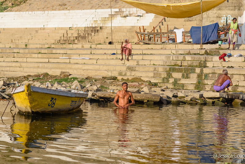 Cleansing Sins by Bathing in the Ganges River