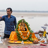 Preparing for the Ganga Aarti