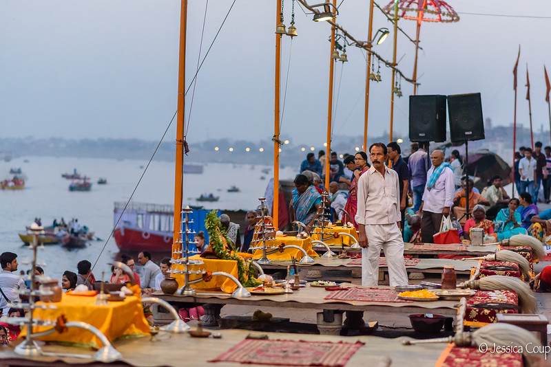 Waiting for the Ganga Aarti at Sunset