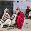 Varanasi morning shave