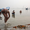 Morning prayers on the mother Ganga