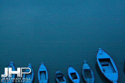 """Blue On Blue"", Varanasi, Uttar Pradesh, India, 2006 Print IS2906-329"