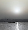 Dawn, People on the Far Shore, Ganges River, Varnasi, India