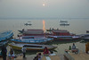 Boats & Prayer ~ Early morning on Ganges, Varanasi, India