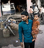 Father and Daughter, Street Scene, Varanasi, India
