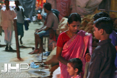 """Three In The Market, Night"", Varanasi, Uttar Pradesh, India, 2006 Print IS2906-521"