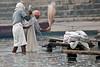 Laundry on the Ganges River~early morning~Varanasi, India