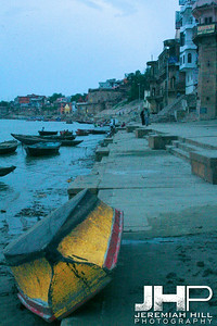 """Yellow Boat"", Varanasi, Uttar Pradesh, India, 2006 Print IS2906-689"
