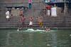 Ganges Bath Early AM in Varanasi, India