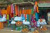 Colorful Shop with bottles of Ganges River water ~ early AM