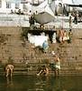 Male Bathers, Ganges River,Varanasi, India (Bronica 645)
