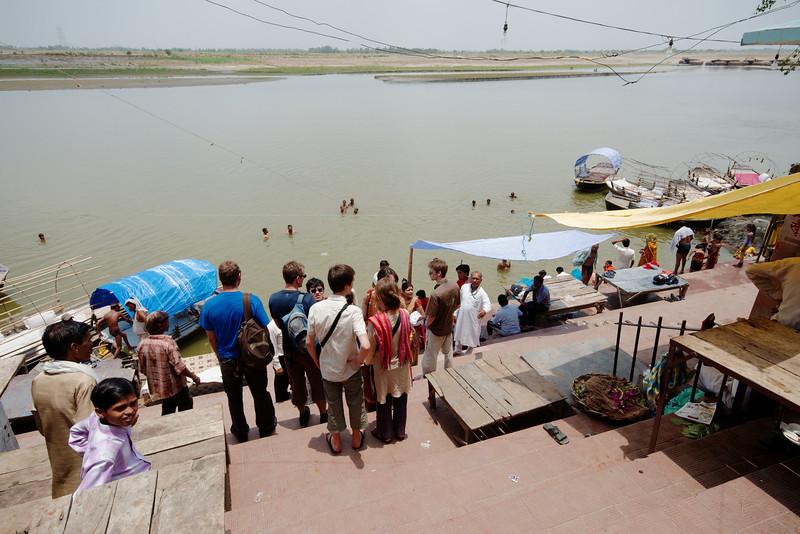 Steps along the banks of the Ganga River