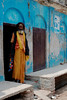 A village saddhu watches us as we pass by