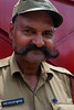 Mustachioed guard of the Sai Baba Temple