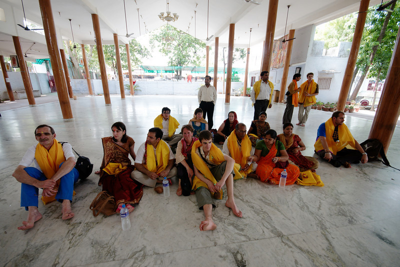 Resting inside the Sai Baba Temple