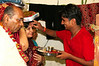 Jitendra's parents receiving blessings from their nephew