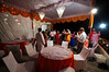 The rooftop of the Bajpai residence set up for the buffet dinner