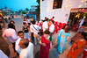 Guests gather outside the Bajpai residence before the Tilak ceremony