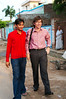 Jitendra's cousin Manu giving Yann a tour of the local temple