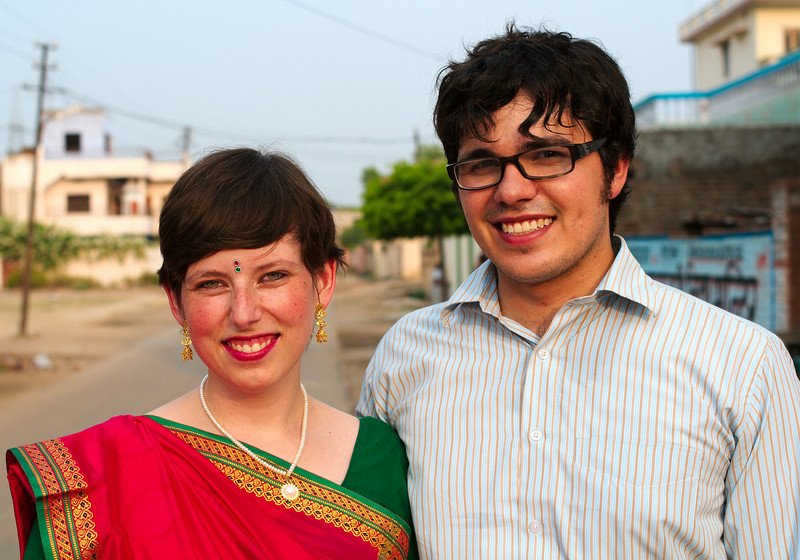 James and Antonia ready for the Tilak ceremony