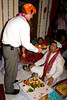 During the Tilak ceremony