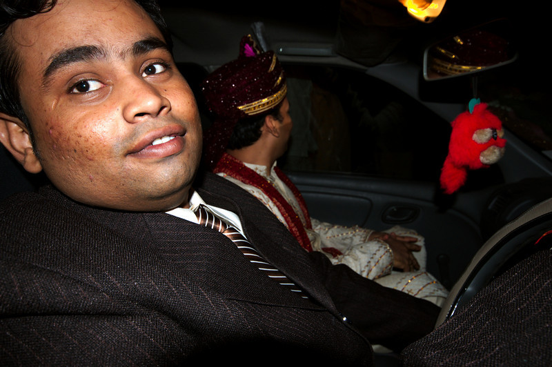 Prashant, being the most experienced driver, had to drive the wedding car
